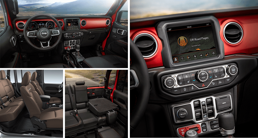 2020 Jeep Gladiator Interior and tech