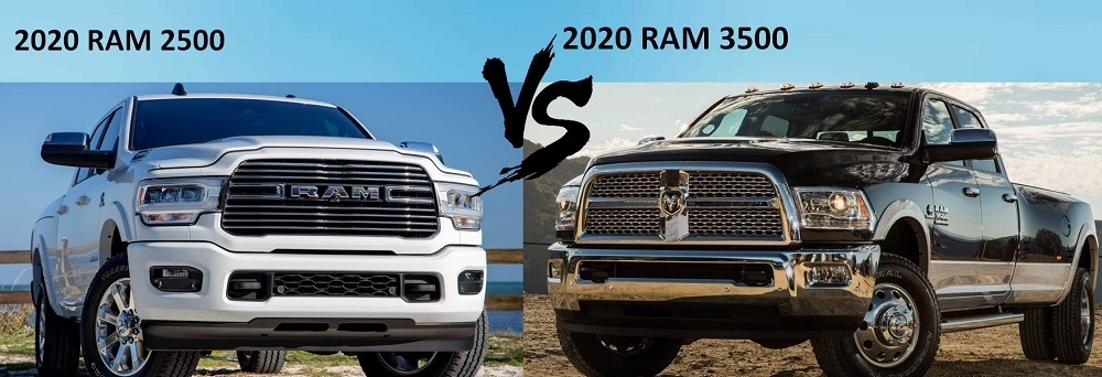 2020 RAM 2500 vs RAM 3500 Front Look