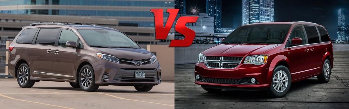 2020 Grand Caravan VS 2020 Toyota Sienna : Exterior Design Comparison