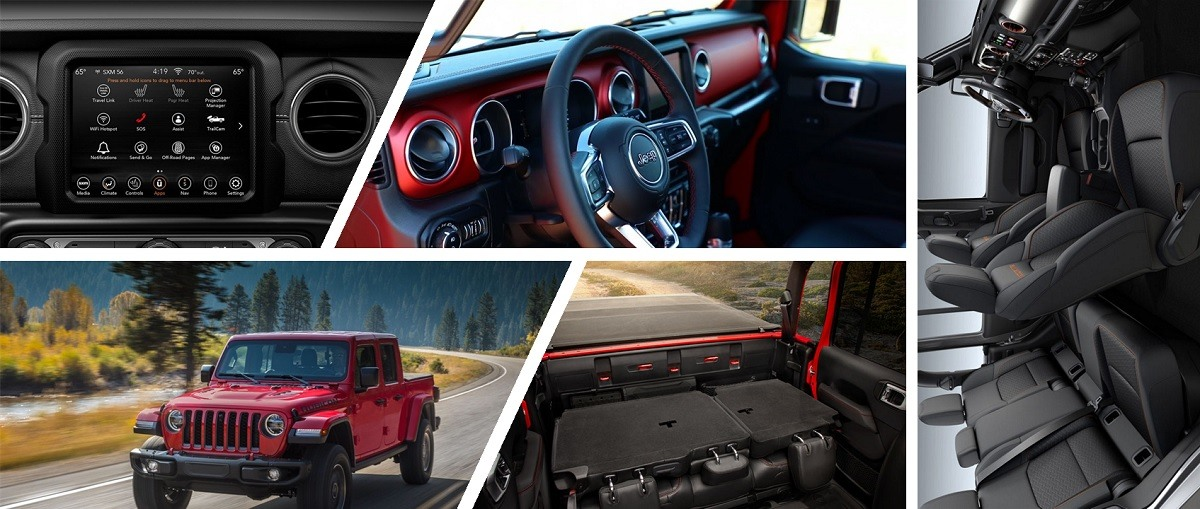 2020 Jeep Gladiator interior look | infotainment, seating capacity, storage and more